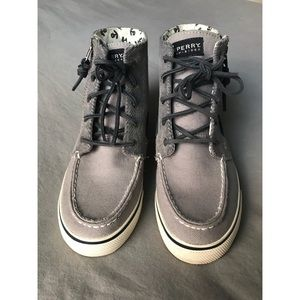 Sperry Shoes, Grey corduroy high top, W 7.5M